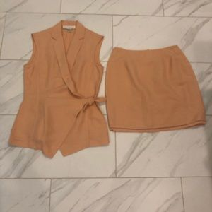 The Limited Women's peach top and skirt Size S